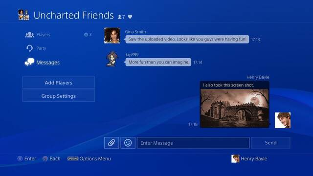 PlayStation chat grupos firmware Sony PS4 y PS5