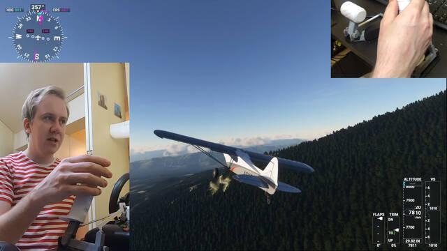 Microsoft Flight Simulator Stick Impresora 3d