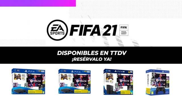 Packs PS4+FIFA 21 en TTDV.