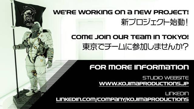 Kojima Productions confirma que ya está trabajando en un nuevo videojuego