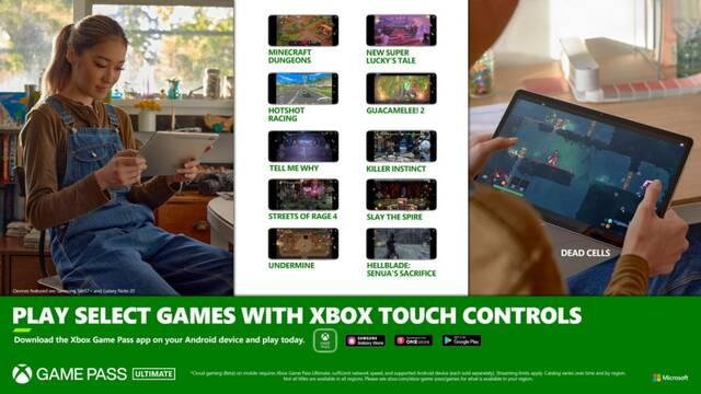 Nuevos juegos con controles táctiles en xCloud.