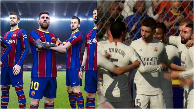 Simulamos el Barça VS. Madrid en FIFA 21 y PES 2021