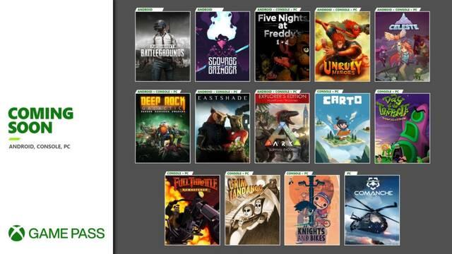 Nuevos juegos de Xbox Game Pass.