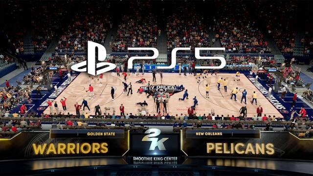 Gameplay de NBA 2K21 en PS5.
