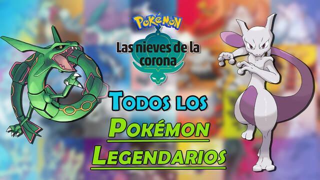 Las Nieves de la Corona: Todos los Pokémon Legendarios y cómo conseguirlos
