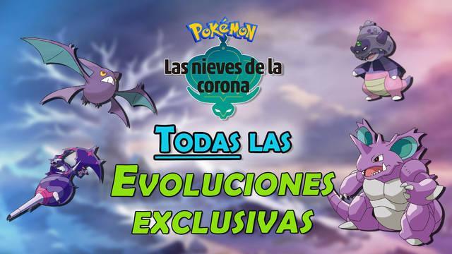 TODAS las evoluciones exclusivas de Las Nieves de la Corona (DLC)