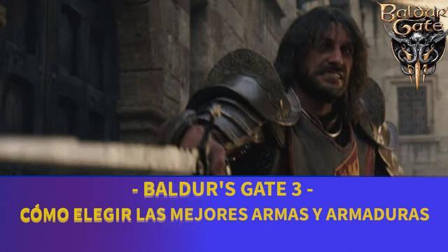 Baldur's Gate 3 - Cómo escoger las mejores armas y armadura