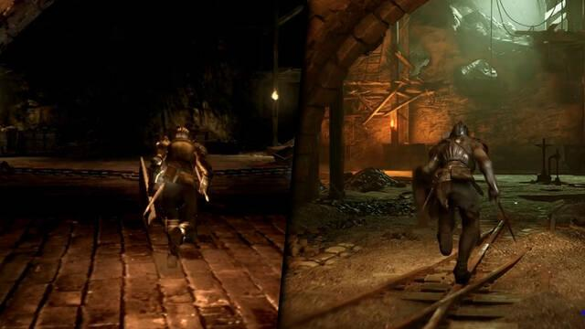 Demon's Souls Remake comparación PS5 y PS3
