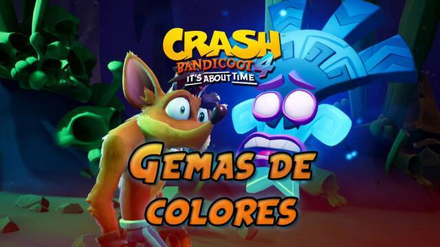 TODAS las gemas de colores de Crash Bandicoot 4 y cómo conseguirlas