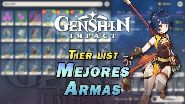 Genshin Impact: Tier list de las MEJORES armas por categorías
