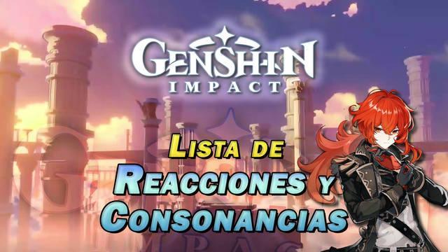 Genshin Impact: Todos los elementos, combos y consonancias de equipo