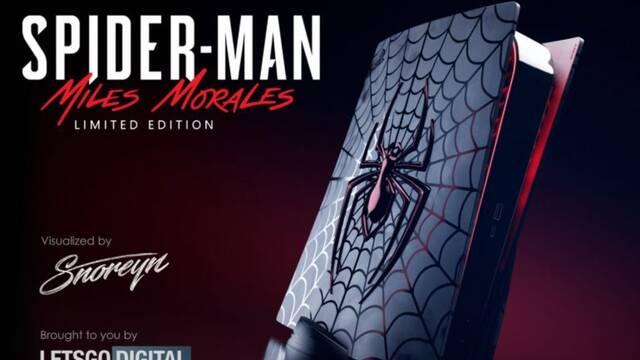 Así sería una PS5 edición limitada de Spider-Man: Miles Morales.