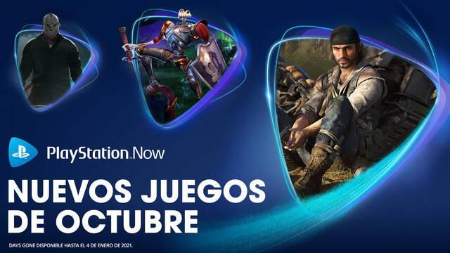 Juegos de PS Now de octubre de 2020.