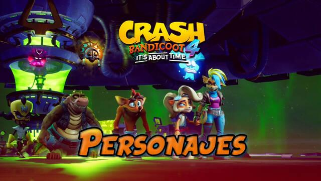 Personajes controlables en Crash Bandicoot 4: It's about time