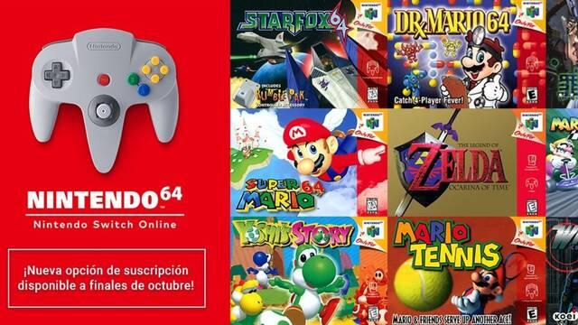 Nintendo confirma que los juegos de Nintendo 64 para Switch Online se podrán jugar a 60 Hz