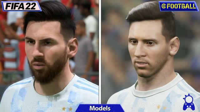 eFootball 2022 vs FIFA 22 comparativa gráfica