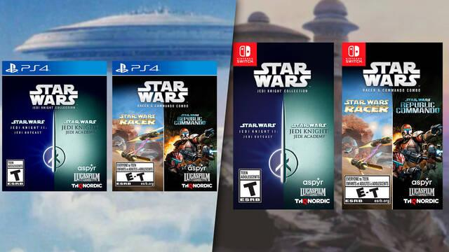 Star Wars Jedi Knight Collection y Star Wars Racer and Commando Combo en PS4 y Switch