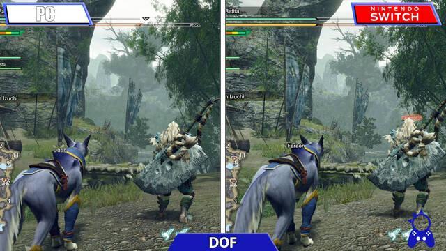 Comparan la demo de Mosnter Hunter Rise en sus versiones de Nintendo Switch y PC