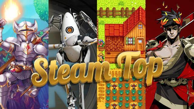 Estos son los cinco juegos mejor valorados de Steam.