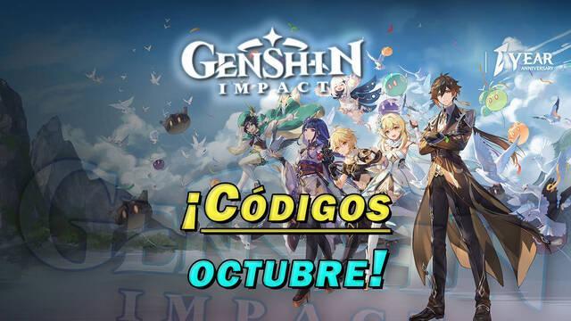 Genshin Impact: Nuevos códigos de octubre 2021