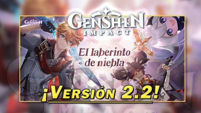Genshin Impact todas las novedades de la v2.2