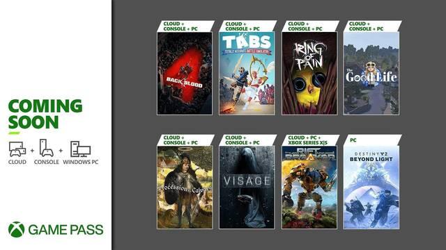 Back 4 Blood, Visage y todos los juegos que llegarán a Xbox Game Pass