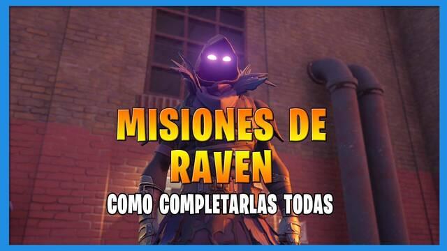 Fortnite T8: TODAS las misiones de Raven y cómo completarlas