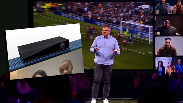 Sky presenta una cámara para la televisión con tecnología Kinect.