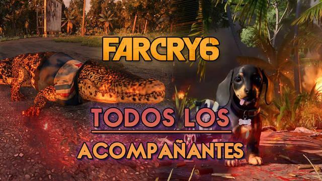 Far Cry 6: Todos los acompañantes, cómo conseguirlos y desbloquear sus habilidades