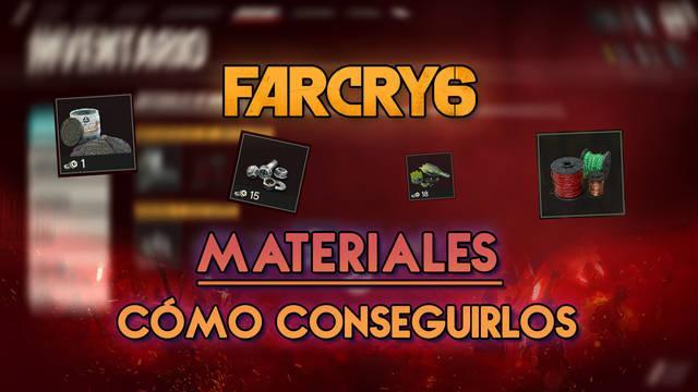 Far Cry 6: TODOS los tipos de materiales y recursos y cómo conseguirlos