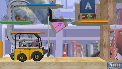 Vehículos y maquinaria pesada de camino a LittleBigPlanet para PSP