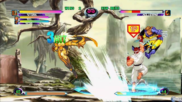 Ryu y Lobezno se enfrentan en Marvel vs Capcom 2