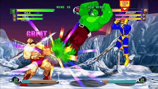 Zangief y Hulk luchan en Marvel vs Capcom 2