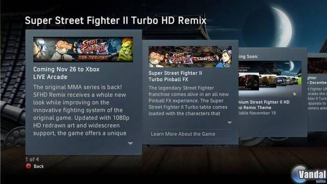 Super Street Fighter II Turbo HD Remix llega el 26 de noviembre