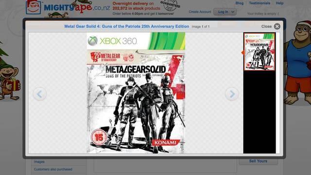 Konami niega una edición 25 aniversario de Metal Gear Solid 4 en Xbox 360