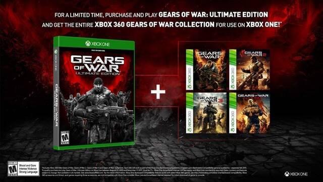 Los compradores de Gears of War: Ultimate Edition recibirán el resto de juegos de la saga el 1 de diciembre