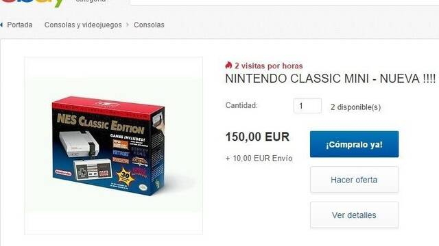eBay anima a los poseedores de Nintendo Classic Mini a especular con ella