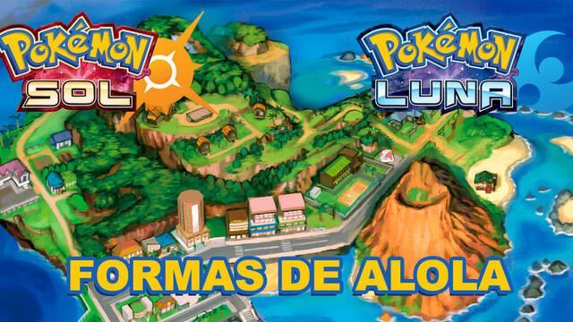 Lista de formas de Alola en Pokémon Sol y Luna