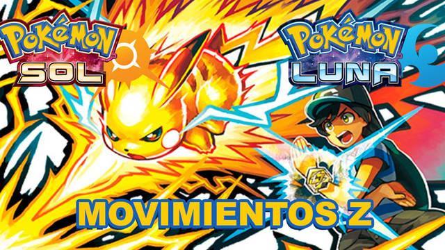 Listado de todos los Movimientos Z en Pokémon Sol y Luna