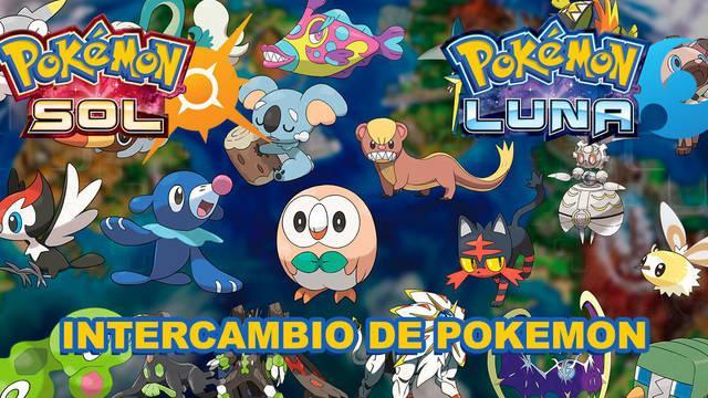 ¿Cómo intercambiar pokemon en Pokémon Sol y Luna?