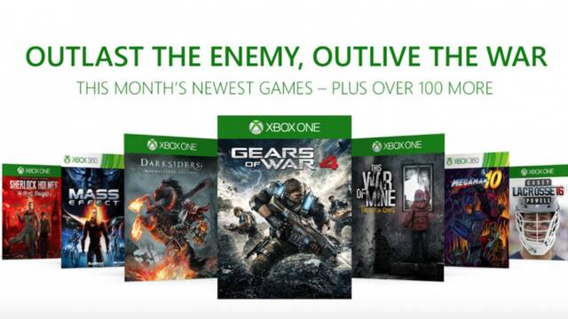 Gears of War 4, Mass Effect y más llegan a Xbox Game Pass en diciembre