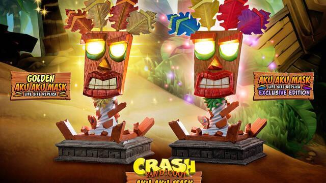 Aku Aku estrena la colección de figuras de Crash Bandicoot en First 4 Figures