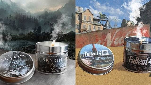 Skyrim y Fallout presentan velas aromáticas para aumentar la experiencia VR
