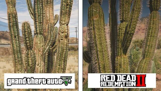 Comparativa gráfica entre Red Dead Redemption 2 y Grand Theft Auto V
