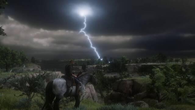 Red Dead Redemption 2: Un jugador es alcanzado por un rayo