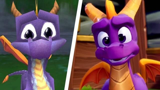Comparan las intros y dragones de Spyro Reignited Trilogy con los originales