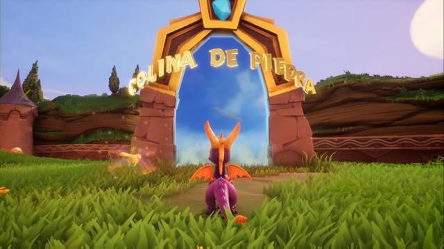 Colina de piedra en Spyro 1 - Estatuas de dragón, llaves y secretos