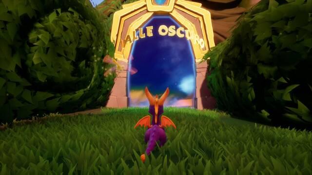 Valle oscuro en Spyro 1 - Estatuas de dragón, llaves y secretos