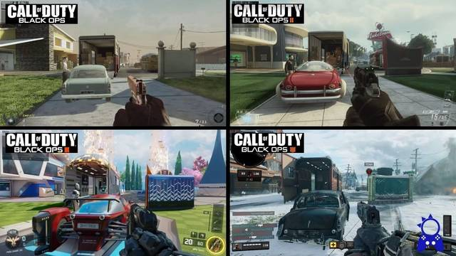 Comparan el mapa Nuketown en los cuatro Call of Duty Black Ops