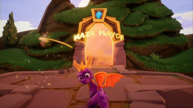 Plaza Mayor en Spyro 1 - Estatuas de dragón y secretos